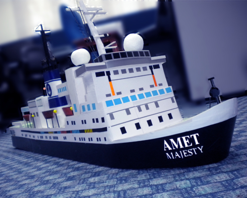 Cruise Ship Miniature Amet Cruise Liner's Miniature