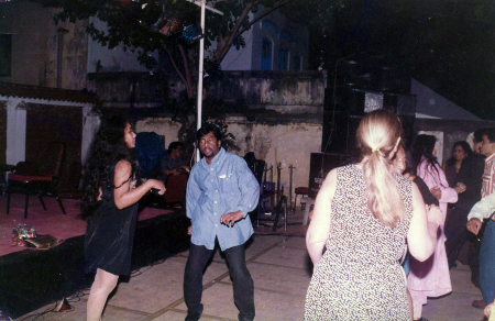 1996 - First Time in Chennai, Dance Floor on Pool at Hotel Winsor Park